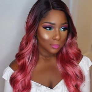 Rosepink lace front wig Brand new with tags